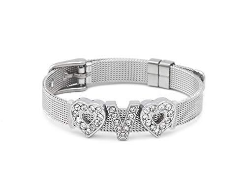 Fanstown BTS Kpop Bangtan Boys Glittering Letters Member Nmae Handmade Titanium Bracelet