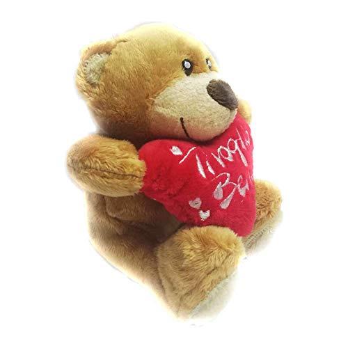 Peluche Orsetto San Valentino con Cuore E Scritta Ti Voglio Bene 15 cm