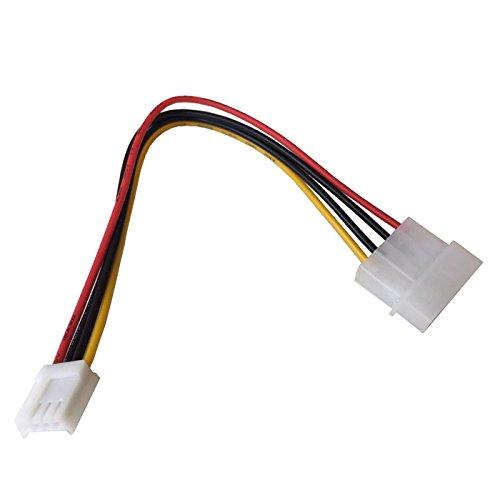 """Q02 TOP! 20cm Floppy FDD Strom Adapter 4 Pin Molex Stecker auf 4 Pin Floppy Strom Power Buchse, 4 Pin Molex Stecker auf 4 Pin Floppy Strom Power Buchse, Plug und Play, 4-poliger Molexstecker 5,25\"""" (13,34 cm) an 4-polige Floppystrombuchse, Kabellänge: ca. 20cm"""