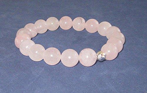 Pulsera de fecundidad de cuarzo rosa, pulsera de cristales curativos de chakras, pulsera de...