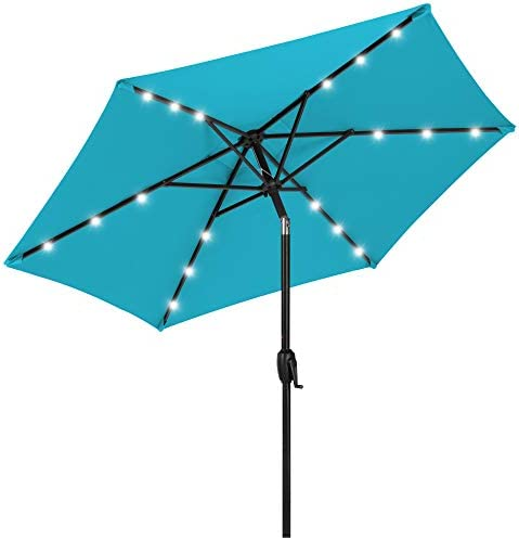 Best Choice Products 7 5ft Outdoor Solar Market Table Patio Umbrella for Deck Pool w Tilt Crank product image