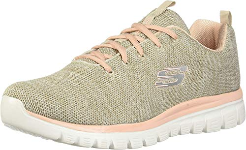 Skechers - Scarpe da ginnastica da donna Graceful-Twisted Fortune, Beige (Naturale Coral Ntcl), 35 EU