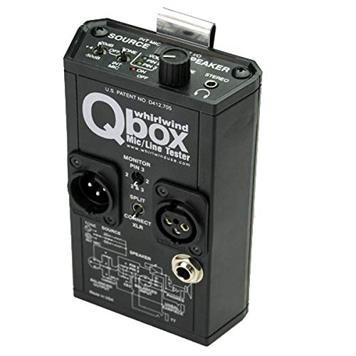Whirlwind Qbox Audio Line Tester/Cable Tester/Test Tone Generator