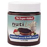 Chocolate con leche y avellanas sin azúcar 312g | Bajo en carbohidratos y Keto | Nutilight