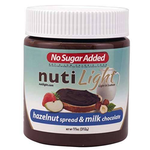 Nutilight Sin adición de azúcar y avellanas y chocolate con leche Avellana y chocolate con leche 22 oz. (624gr)