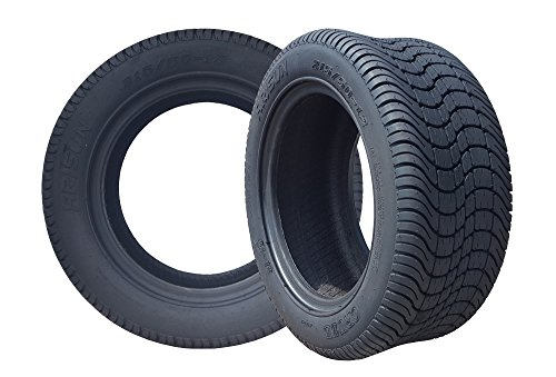 Arisun 215/50-12 'Cruze' DOT Low Profile Tires for EZGO, Club Car, Yamaha Golf Carts (1, set of 2,...