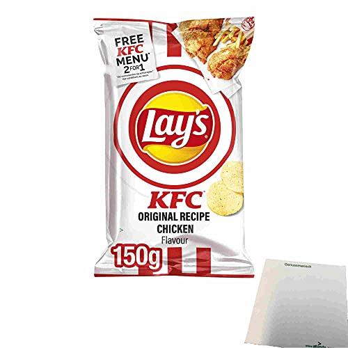 Lays KFC Original Recipe Chicken Flavour Kartoffelchips (150g Beutel) + usy Block