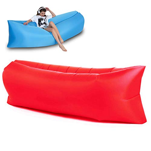 XSCYLWJ Sofá de Aire Inflatable Lounger Hangout Sofa with Travel Bag The Portable Inflatable Air Lounger Couch is Perfect for Indoor and Outdoor Use for Camping Beach Lake Or Pool