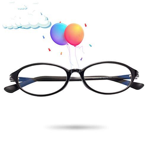 JIMMY ORANGE老眼鏡 ブルーライトカットメガネ 軽い メンズ レディース おしゃれ パソコン用 PCメガネ 携帯用 リーディンググラス AM8044 オーバル ブラック, 3.50