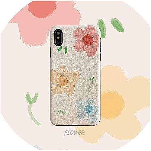 qiaohuan shop Flores de verano para iPhone 66S 6P 78 78plus X Xs Xr Xsmax Funny Anti Fall Phone Case Case para iPhone XSMAX,001