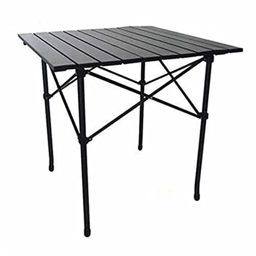 MRTYU-UY Mesa Plegable De Aluminio para Acampar, Diseño Portátil Plegable, Mesa Enrollable Ligera con Bolsa De Transporte, Muebles De Jardín Al Aire Libre para Picnic, Acampada, Barbacoa