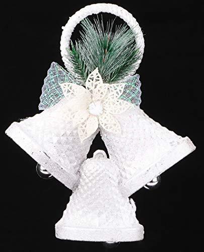 Christmas Concepts Decorazioni Natalizie 25 cm con Glitter Bianco 3 Campane - Decorazioni Natalizie di Lusso
