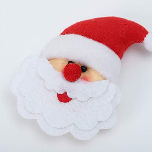 Higlles Weihnachten Kühlschrank Aufkleber Weihnachtsmann Schneemann Elk Kühlschrankzubehör Weihnachtsschmuck
