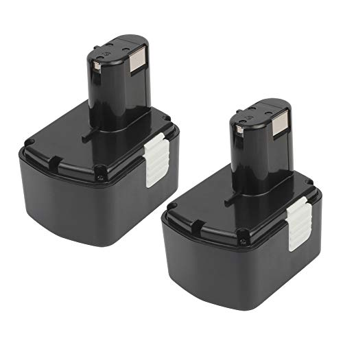 2 Pack 14.4-Volt EB1414S Battery, 3.6Ah MASIONE Ni-MH Replacement for Hitachi 14.4v Battery Cordless Drill Power Tools 324367 EB1414 EB1424 EB14B EB14S DH14DL WR14DH WR14DL WR14DM