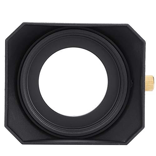 Topiky Parasol de Lente, Reemplazo de Sombra de Campana de Lente Rectangular portátil para videocámara DV Cámara de Video Digital Filtro de Lente(43mm)