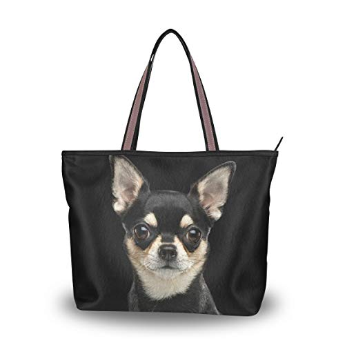 My Daily Damen Schultertasche Chihuahua Hund Handtasche, multi, Medium