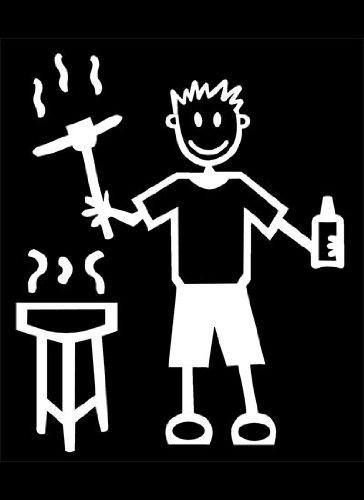 My Stick Figure Family Autoaufkleber Aufkleber Sticker Decal Vater Grill BBQ und Bier Lagerbier M6