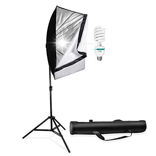 LimoStudio 700W Photo Video Studio Soft Box Lighting Kit, 20 x 28 Inch Dimension Softbox Light Reflector with 85W CFL Bulb, Photography Studio, AGG2767