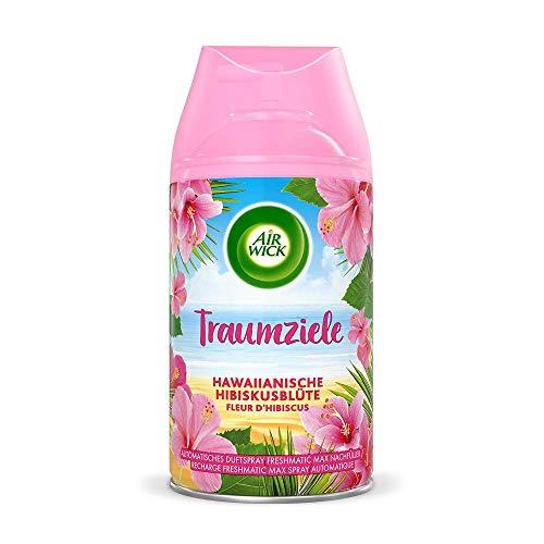 Air Wick Freshmatic Max – Nachfüller für das Air Wick Freshmatic Max Gerät – Duft: Hawaiianische Hibiskusblüte – 6 x 250 ml Nachfüller