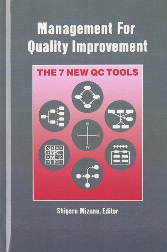 Management for Quality Improvement: The 7 New QC Tools (Productivity's Shopfloor)