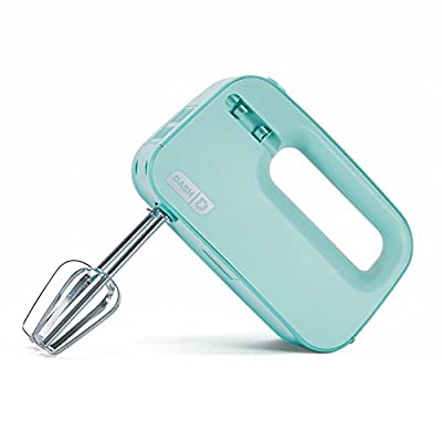 Dash Smart Store Compact Hand Mixer Electric for Whipping + Mixing Cookies, Brownies, Cakes, Dough, Batters, Meringues & More, 3 speed, Aqua from StoreBound