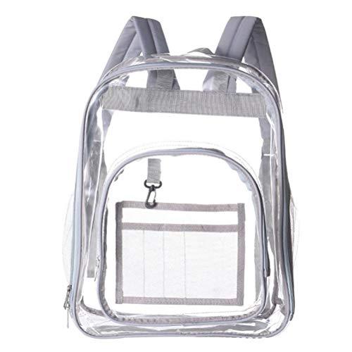 Mochila transparente para hombre y mujer, impermeable, mochila escolar para uso informal, escuela, viaje, senderismo, trabajo, PVC