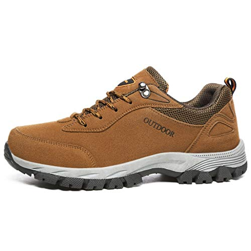 Men's Hiking Shoes Mitiy Outdoor Walking Trail Work Sneakers, Breathable, High-Traction Grip