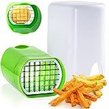 MR.ROBINSON Pommesschneider - Platzsparender Kartoffelschneider - Pommes Schneider Spülmaschinenfest - Potato Cutter - Frittenschneider auch für Süßkartoffel Pommes