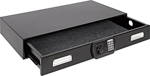 "SnapSafe Under Bed Safe L, 75401, Gun Security Safe and Storage, 40""W x 6""H x 22""D, Store Your Firearms and Valuables Safely and Easily"