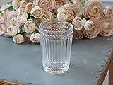 Chic Antique Portaspazzolino porta spazzolini da denti, in vetro trasparente, stile rustico, vintage, shabby