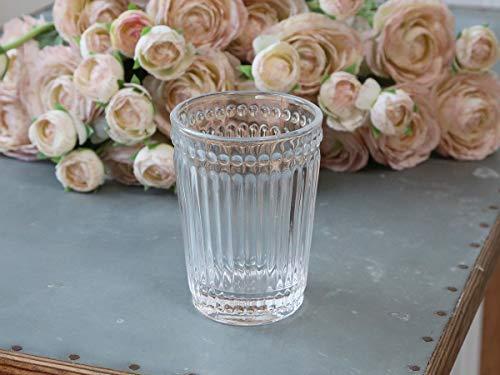 Chic Antique Vaso para cepillos de dientes, cristal transparente, estilo rústico, vintage,...