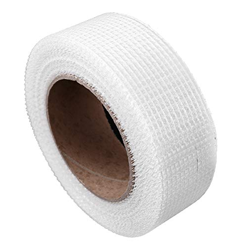YOOJIA Glasfaser-Gewebeband Gitterband Selbstklebend 10cm x 30m Fiberglasgewebe Reparatur Klebeband Glasfaser Netzgewebe Fugenband Elfenbein 8 Netz 5cm*30m