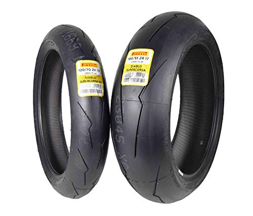Pirelli Diablo Supercorsa V2 Front &/or Rear Street Sport Super bike Motorcycle Tires (1x Front 120/70ZR17 1x Rear 190/55ZR17)