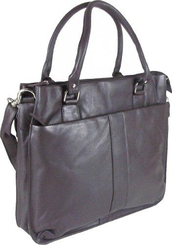 UNICORN Frauen Echt Leder Tasche 14' Laptop, A4 Notepad, ipad, Ebook Zubehör oder...