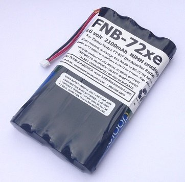 FNB-72xe: 9.6 Volt 2100mAh Ready-to-use NiMH Battery for Yaesu FT-817