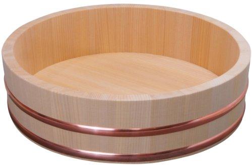 木曽さわらの厚口飯台 寿司桶・飯切 36cm