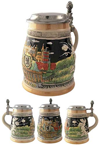 Official Jarra Decorativa de Cerveza Alemana Ceramica Berlin 700 ml