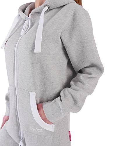 GB4 Finchgirl Damen Jumpsuit Jogging Anzug Trainingsanzug Overall Hellgrau - 2