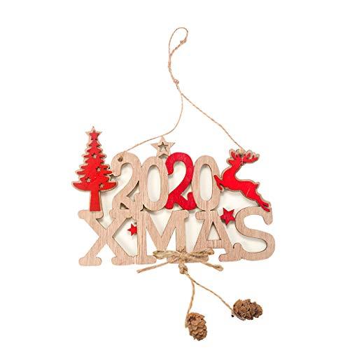 2020 Frohe Weihnachten hölzerne Tafel Weihnachten Brief Hanging Brett Zeichen Home Shop Dekoration Teller