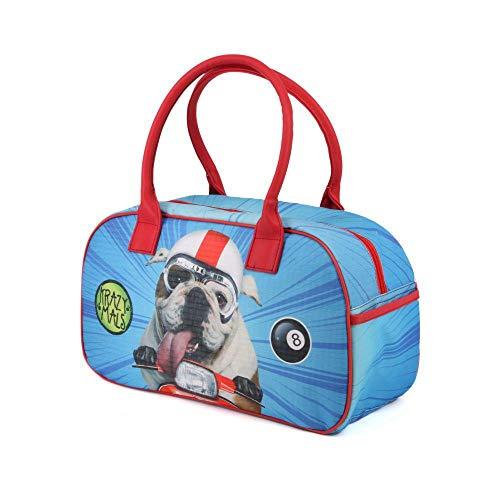 Karactermania Krazymals Bulldog-Bowling Sporttasche Sporttasche, 40 cm, 14.5 Liter, Multicolour