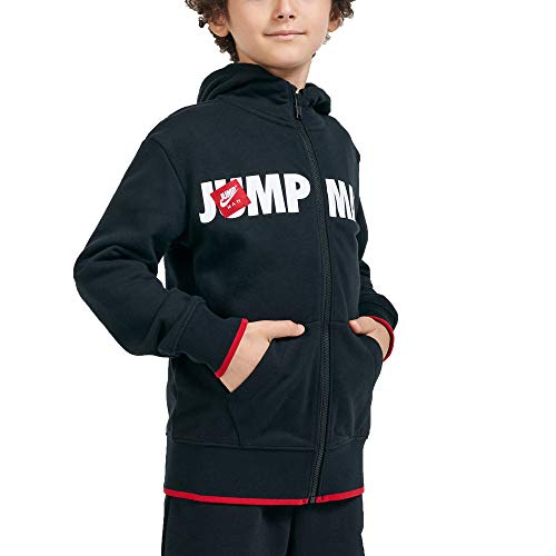 Jordan Felpa da Ragazzo con Cappuccio e Zip Jumpman Nera - 95A293-023 (XL)