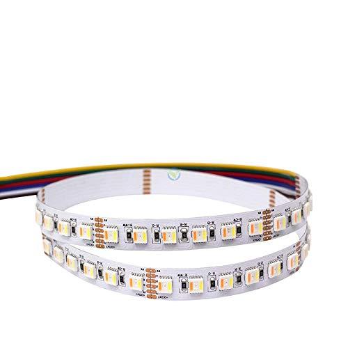 5m LED Streifen hochwertig mit 96 LEDs pro Meter 5in1 Chip RGB+CCT WRGBWW (2500K bis 6500K) RGB, WW und CW in einer LED 24V 32,6W/m