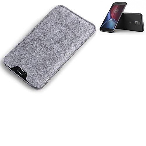 K-S-Trade® Filz Schutz Hülle Für Lenovo Moto G (4. Gen.) Schutzhülle Filztasche Filz Tasche Case Sleeve Handyhülle Filzhülle Grau