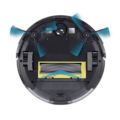ILIFE A6 Saugroboter   automatischer Staubsauger Roboter   Lamellen-Bürste für Tierhaare   Fallschutz   Raumtrennungs-Sensor   72mm flach   Bis zu 160min. staubsaugen   Beutellos   mit Ladestation - 2