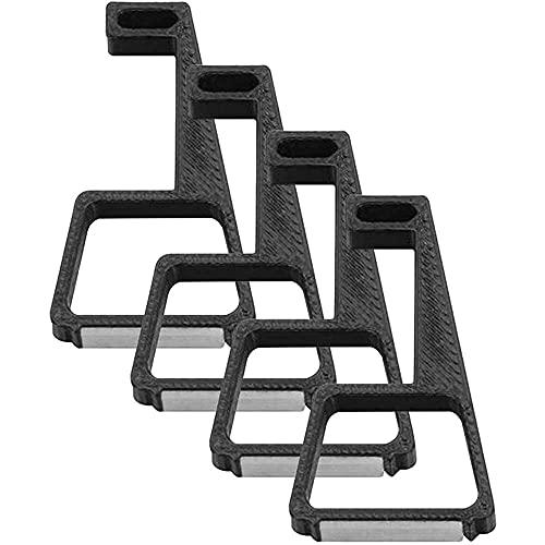 qiaohuan shop 4 piezas de soporte de montaje plano para elevar el soporte, pies de enfriamiento, patas horizontales de refrigeración para PS4/SLIM/PRO...
