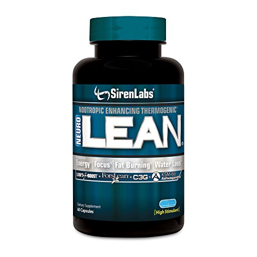 Siren Labs Neuro Lean Thermogenic Fat Burner - Concentrated Nootropic Enhancing for Health, Water Loss, Increase Fat Burning, Supercharge Energy and Mental Focus - Dietary Supplement (60 Capsules)