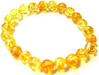 Zoya Gems & Jewellery Natural Citrine smooth round Stretchable Bracelet Size 8 MM Approx.