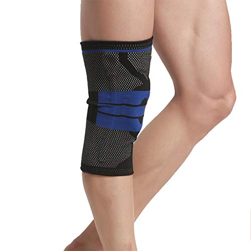 Fablcrew 1 stück Kniebandage für Damen und Männer/Herren Sport,Kompression Knieschoner Atmungsaktiv Knieschützer Unterstutzung für Laufen,Joggen,Arthrose,Gelenkschmerzen (Schwarz-XL)