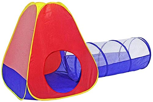 ZZXXB Play Tunnel and Tent Combo (2-Piece Set) Kids Crawling Tunnel Kids Toy Gift Playhouse Indoor Judith