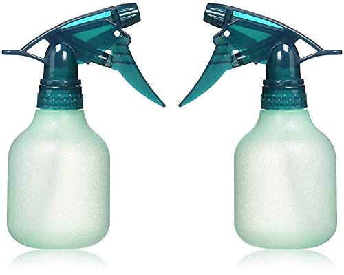 Rayson Empty Spray Bottle Refillable Container, Fine Mist Sprayer Trigger Squirt Bottle for Taming Hair, Hair styling, Watering Plants, Showering Pets (2 Pack, Green)